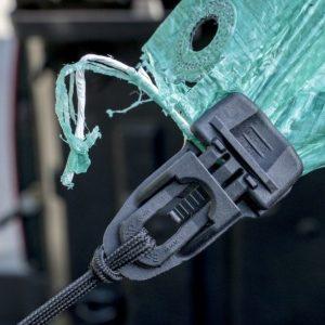 easyklip midi holding a shredded green tarp